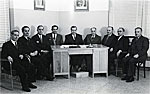 The 1st Council with Leader proff Xanthakis 1952